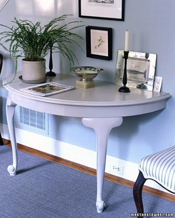 Half table console - Great ways of repurposing home furniture ...