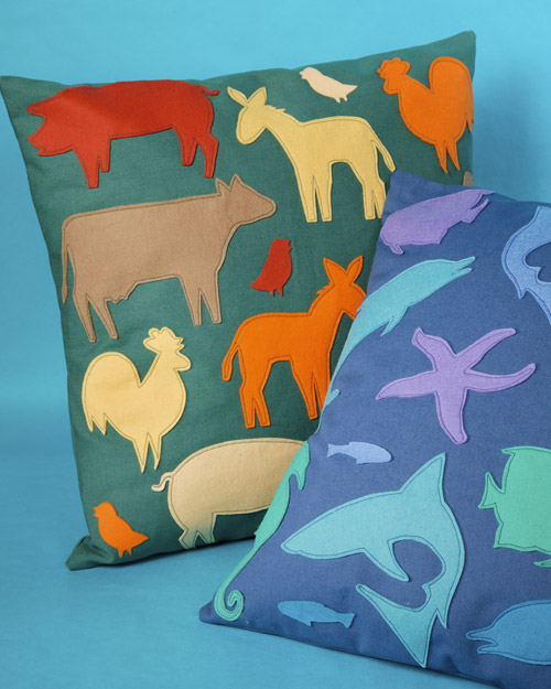Animal Silhouette Pillow Covers : Animal Silhouette Pillow Step-by-Step DIY Craft How To s and Instructions Martha Stewart