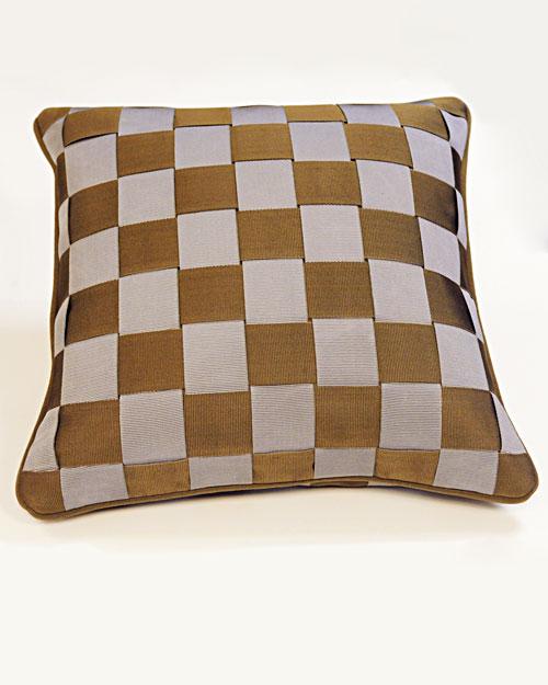 How To Make A Basket Weave Pillow : Basket weave pillow martha stewart