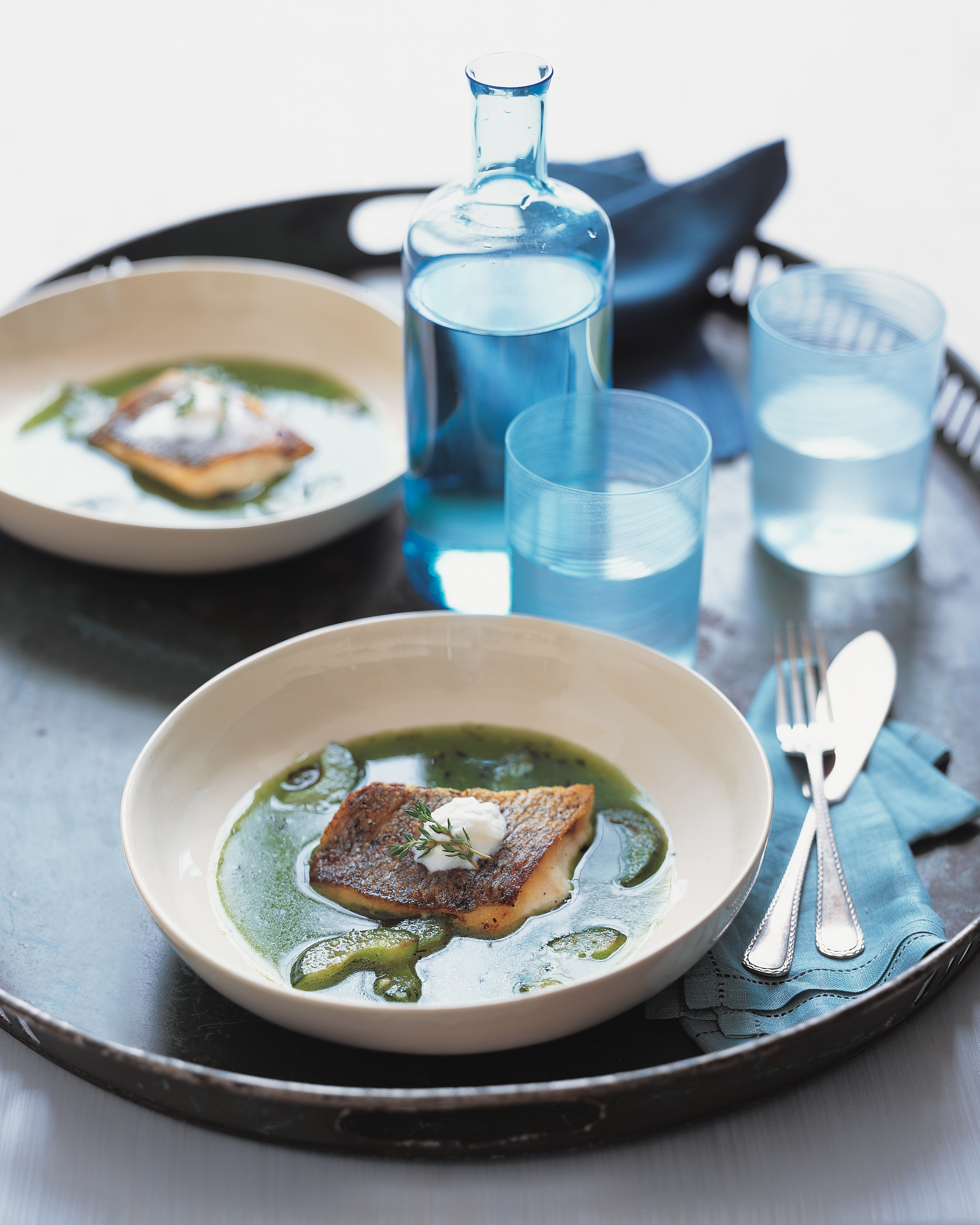 Grilled Striped Bass Recipes Barefoot Contessa grilled striped bass | martha stewart