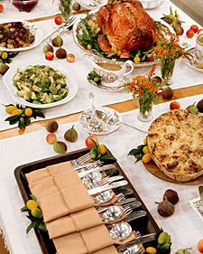 thanksgiving buffet table ideas