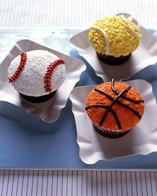 Slam Dunk Cupcakes