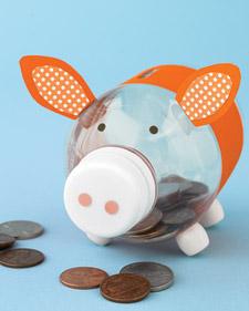 Water Bottle Piggy Bank Craft