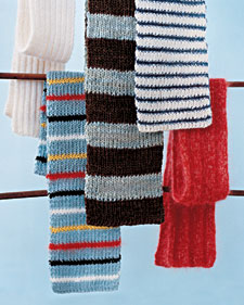 Knitted Scarves Step By Step Diy Craft How To S And Instructions Martha Stewart