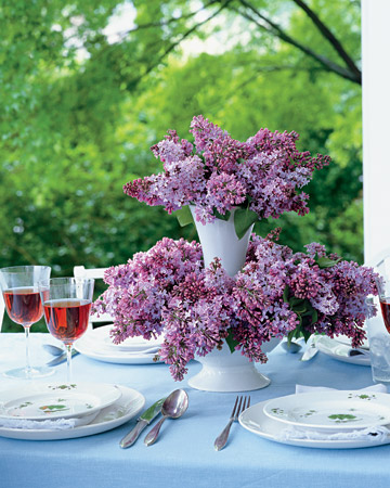 Stacked Lilac Arrangement