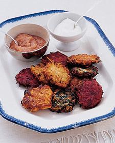 Carrot-and-Beet Latkes Recipe | Martha Stewart