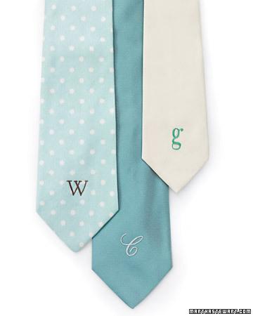 personalized necktie martha stewart