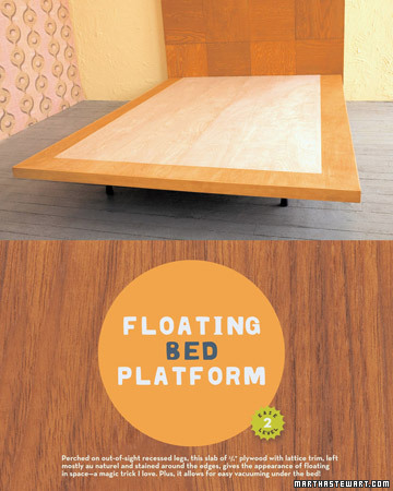 Wooden Tile Headboard And Floating Bed Platform Step By