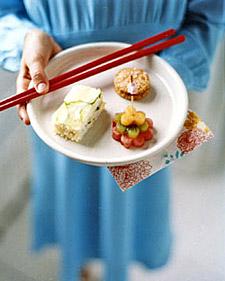 Cucumber Rice Sandwiches, Recipe from Martha Stewart Kids,