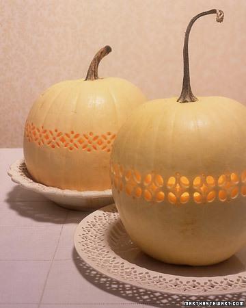 Pierced Openwork Pumpkins