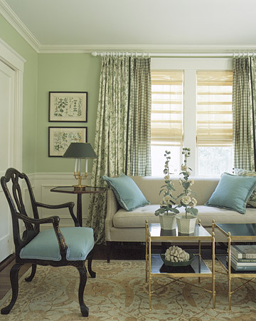Green Toile Curtains Curtains Amp Blinds