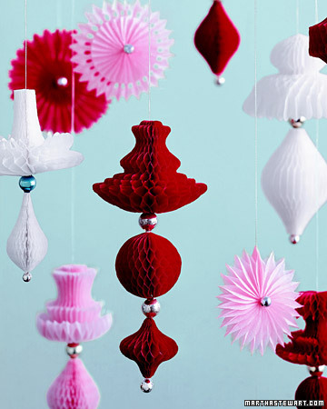 red paper decorations