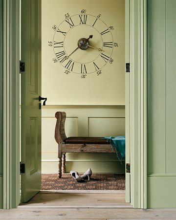 Image Result For Stenciled Clock Wall Decoration Martha Stewart