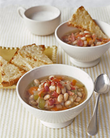 Bean and Bacon Soup with Cheese Toasts, Recipe from Martha Stewart ...