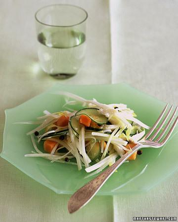 Papaya, Endive, and Crabmeat Salad