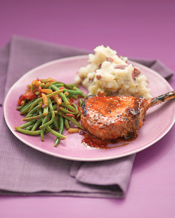Pan-Roasted Pork Chops With Baked Beans And Agrodolce ...