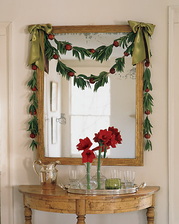 Bay Leaf and Pomegranate Garland