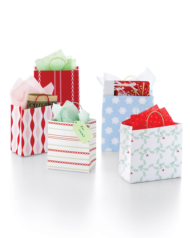 martha stewart gift tag template - mini shopping bags step by step diy craft how to s and