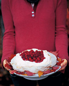Cranberry and Vanilla Pavlova