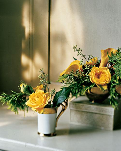 Reused flower arrangements martha stewart for Martha stewart floral arrangements