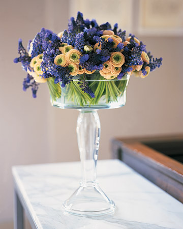Flowers in a Glass Compote