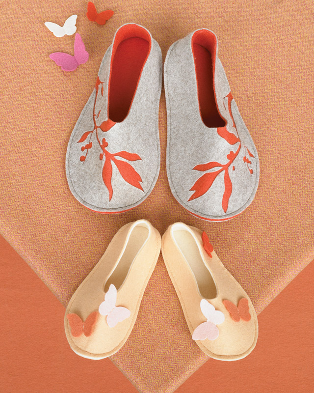 martha stewart butterfly template - felt branch slippers martha stewart