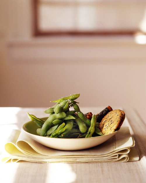 Steamed Soybeans with Coarse Salt