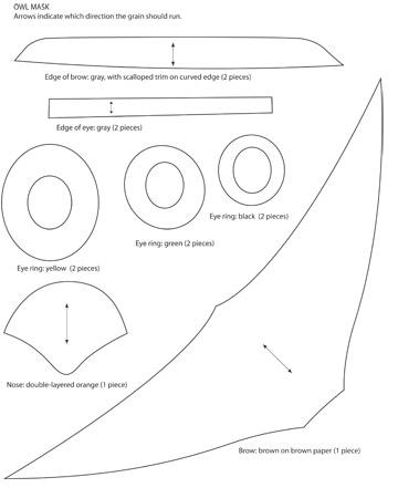 Owl template printable martha stewart - photo#6