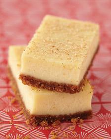 Elizabeth's Eggnog Cheesecake Bars Recipe | Martha Stewart