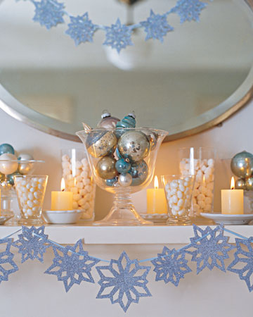Craft Ideas  on Christmas  Snowflake Decorations   Martha Stewart