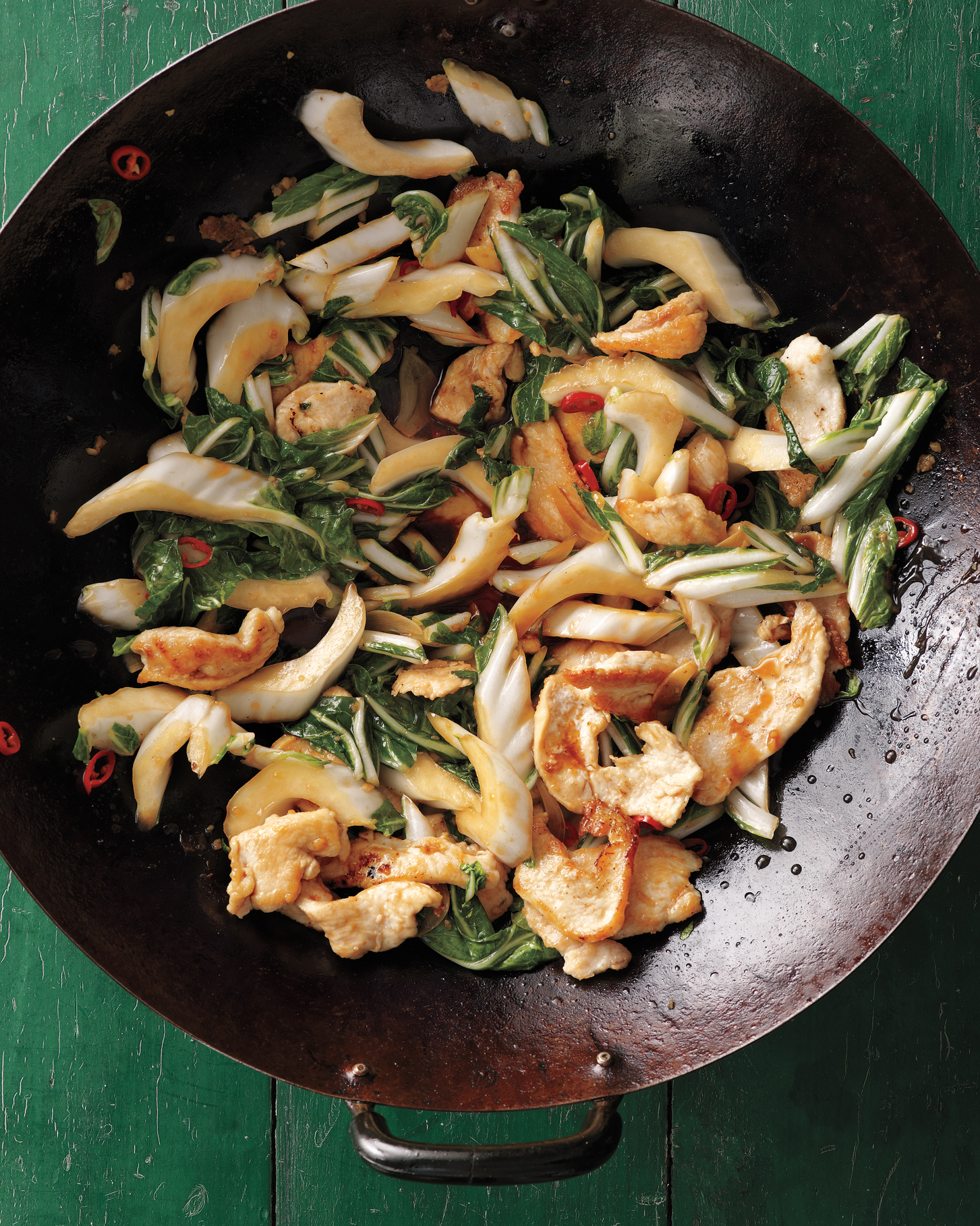 Stir-Fried Chicken with Bok Choy