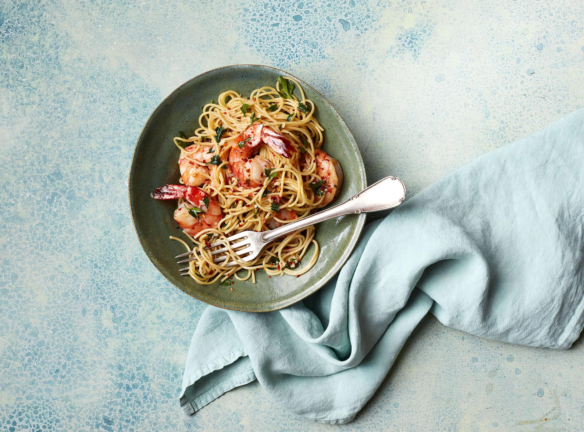 Shrimp Scampi Three Ways