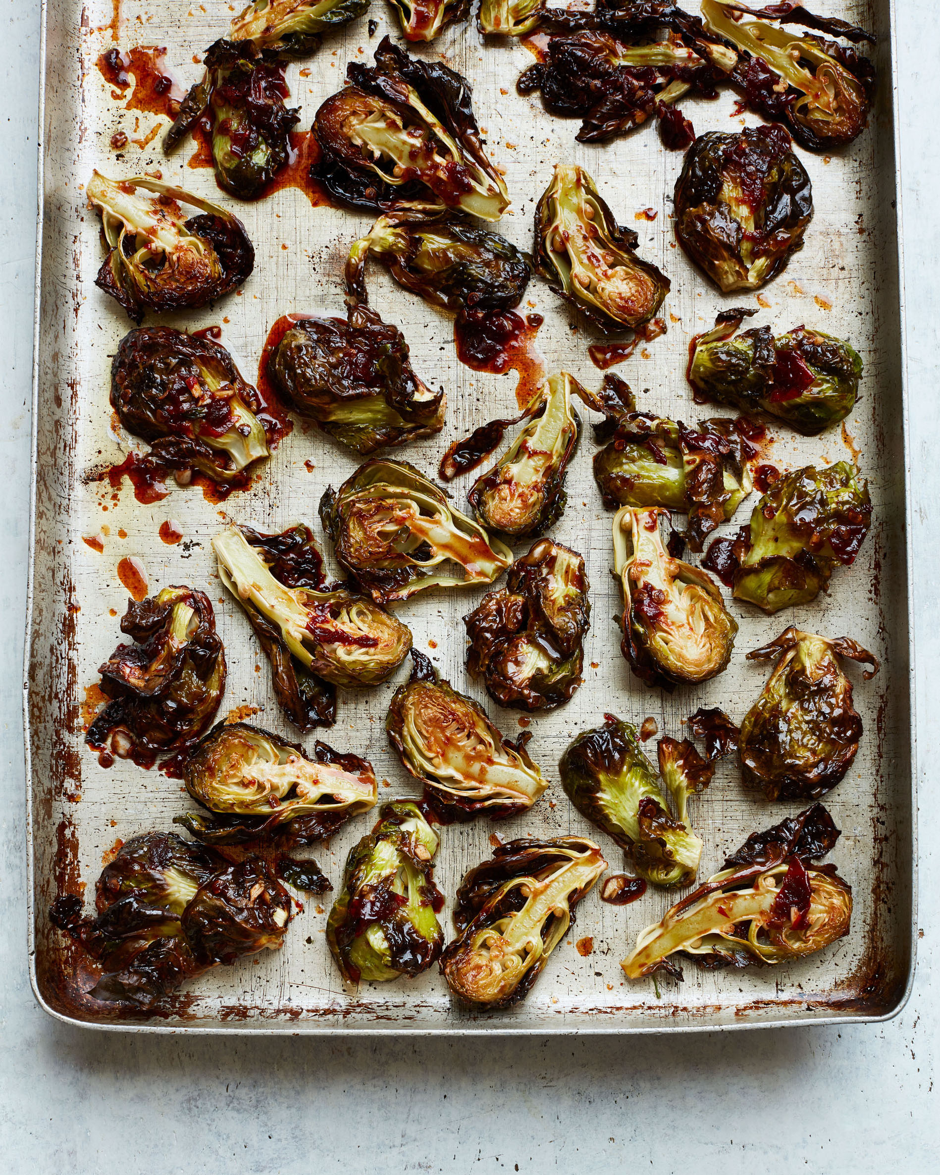 Roasted Brussels Sprouts with Honey-Chipotle Glaze Shira Bocar