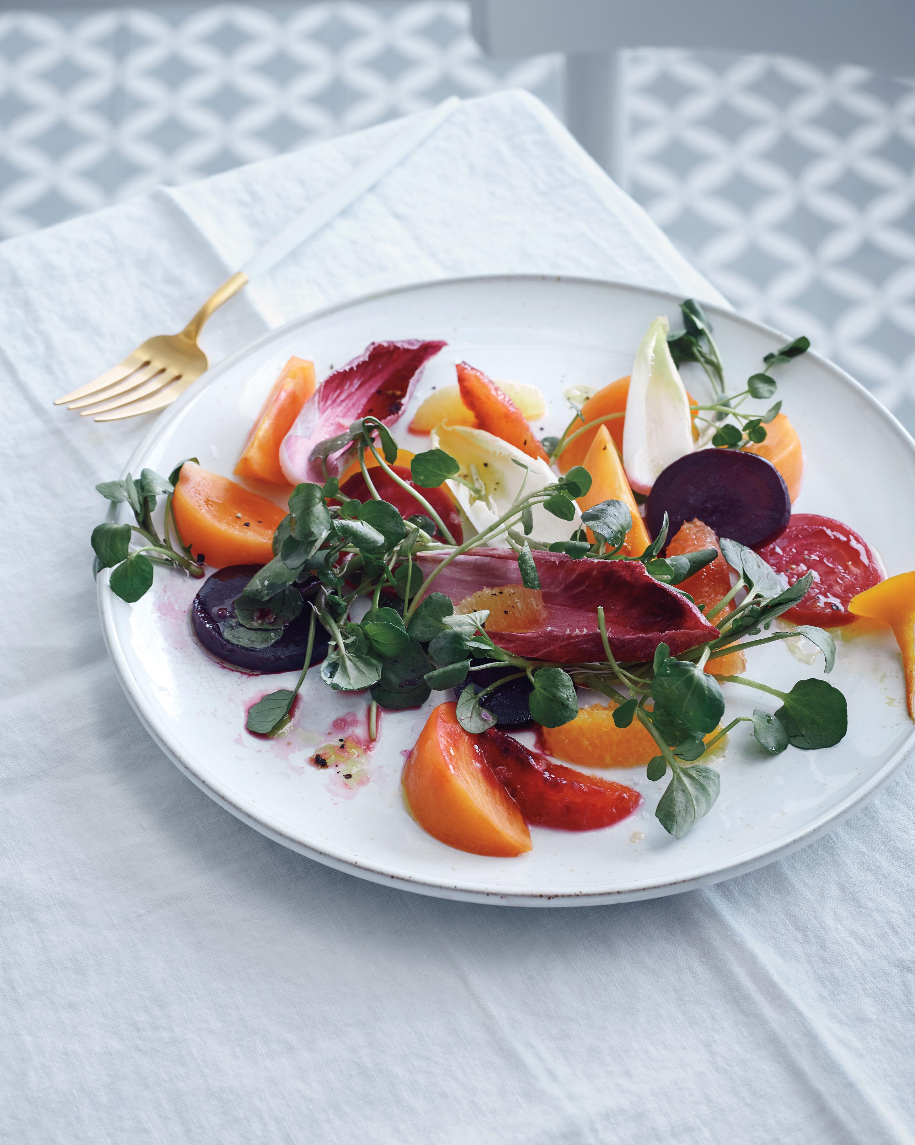 Persimmon, Beet, and Citrus Salad