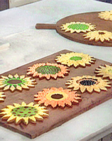 Sunflower Sugar Cookies