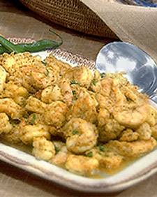 Madhur's Shrimp in Mustard Seed and Green Chile Sauce