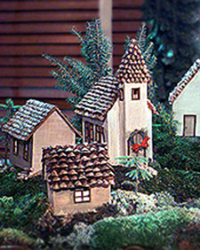 Pinecone Village Martha Stewart