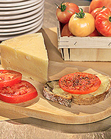 Open-Faced Grilled Cheese and Tomato Sandwich Recipe | Martha Stewart