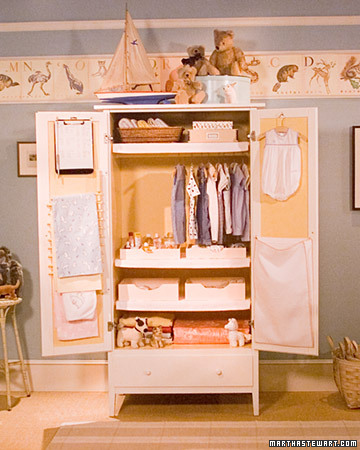 Aprons and Apples re purpose an old armoire or stand