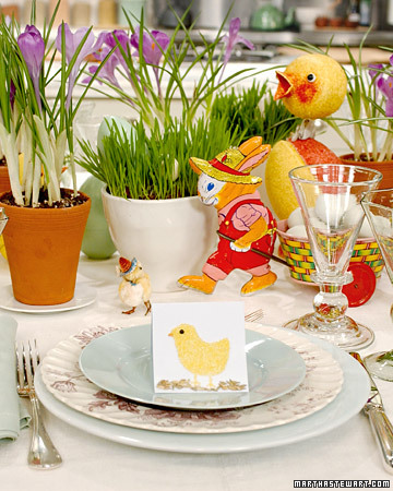 Easter: Easter Table Crafts and Favors - Martha Stewart