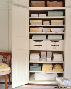 Organizing a Linen Closet Martha Stewart