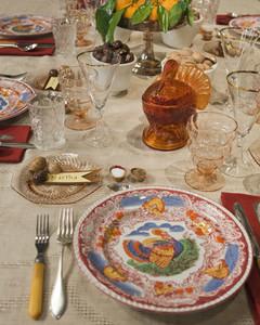 Marthau0027s Thanksgiving Table Setting & Marthau0027s Thanksgiving Table Setting | Martha Stewart