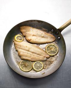 fish saute lemons