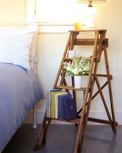 stepladder bed stand | martha stewart Ladder Nightstand