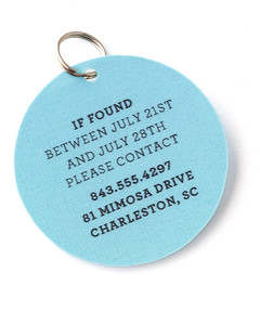 Vacation Pet Tag via Martha Stewart