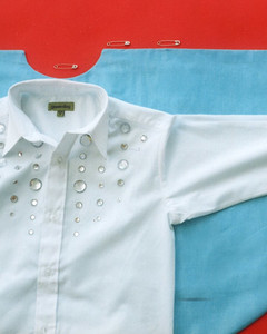 Diy elvis halloween costume martha stewart safety pin the cape to the shirt at the neck along shoulders and at cuffs inserting pins through the inside of the shirt and the lining of the cape solutioingenieria Image collections