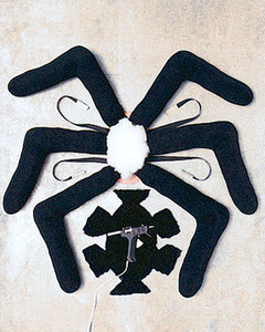 ... place fur body over it and hot-glue fur flaps to underside of cardboard. Place spider on babyu0027s back and attach at belly with Velcro-ribbon ties. & Spiderweb Mother and Sock Spider Baby Costume | Martha Stewart