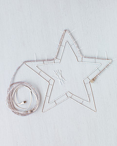 Wrap Rope Lights Around Outermost Wire Of Star Secure Strand With Small Zip Ties Will Not An Even Number Times The