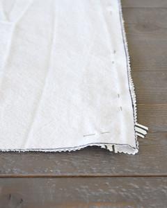 pinning corners of diy cat hammock fabric