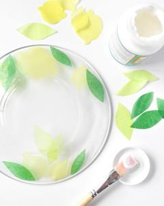 Decoupaged Fruit Plates step 2